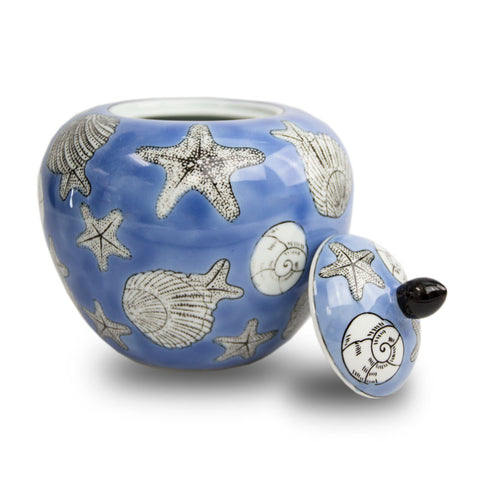 Seashell Mosaic Dynasty Cremation Urn