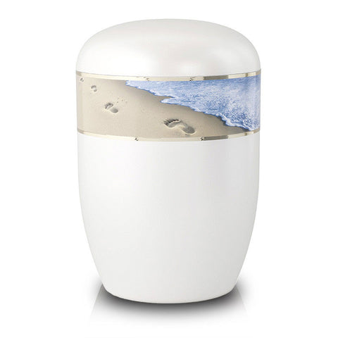 Biodegradable Cremation Urn - Footprints