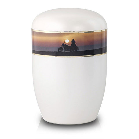 Biodegradable Cremation Urn - Biker