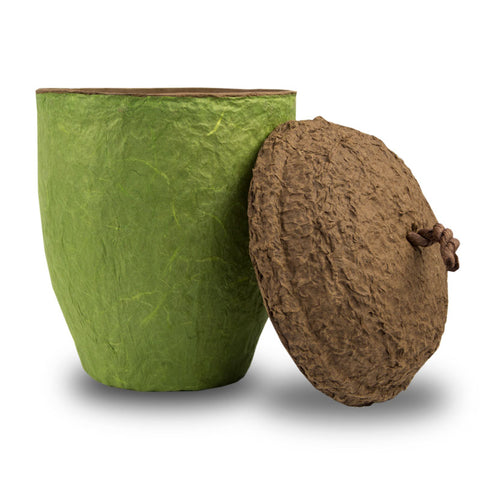 Acorn Biodegradable Cremation Urn - Moss Green