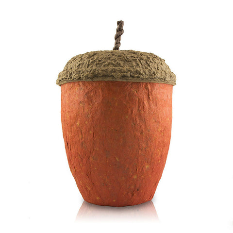 Acorn Biodegradable Cremation Urn - Ruby Red