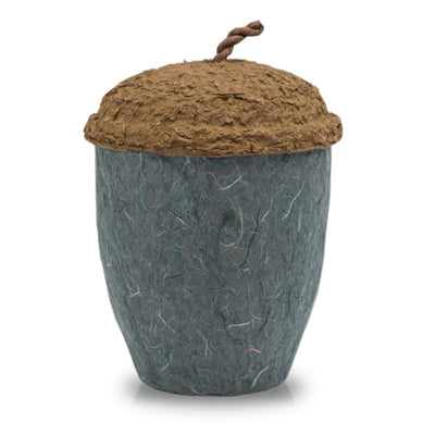 Acorn Biodegradable Cremation Urn - Slate Grey
