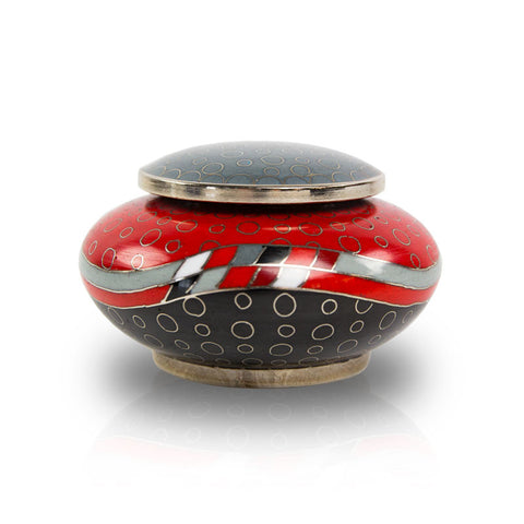 Opulence Red Geometric Cloisonne Keepsake Urn