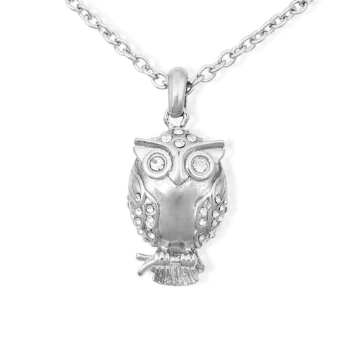 Owl Cremation Pendant - Stainless Steel