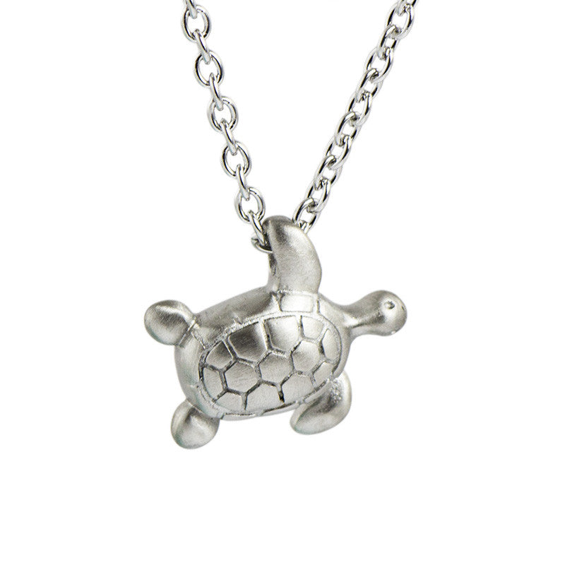 Turtle Cremation Necklace - Stainless Steel