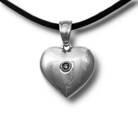 Paw Print on My Heart Cremation Pendant