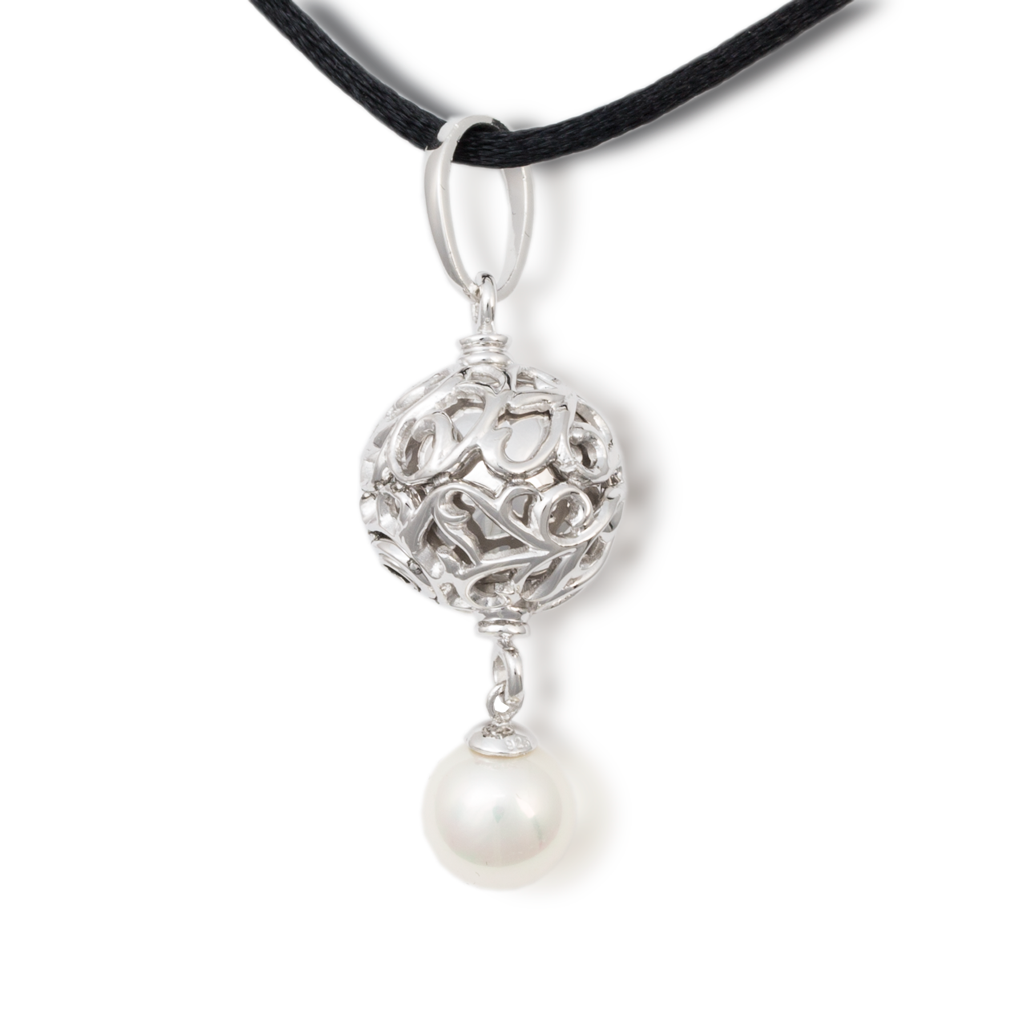 Filigree Pearl Cremation Necklace
