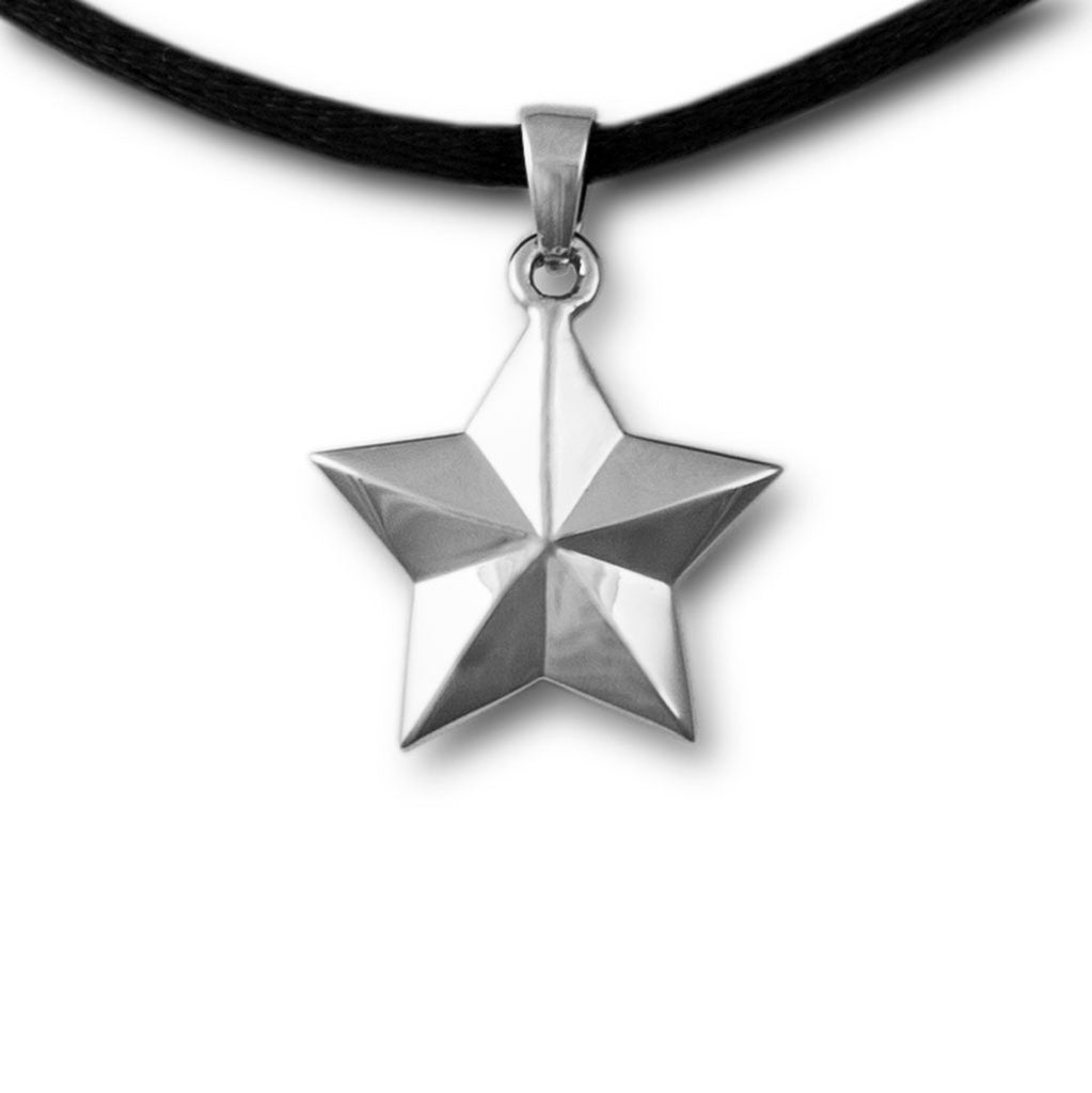 Star Cremation Pendant - Sterling Silver