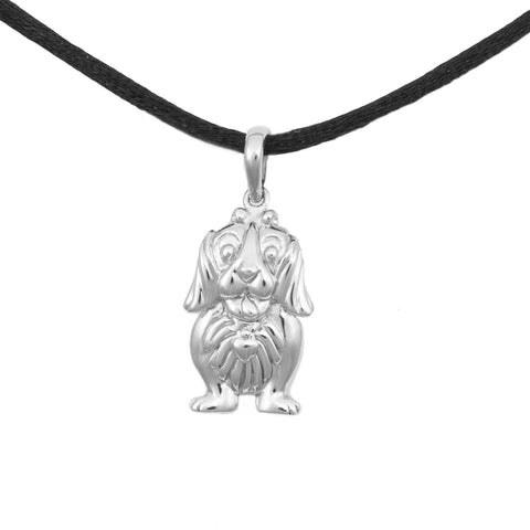 Dachshund Cremation Pendant - Sterling Silver