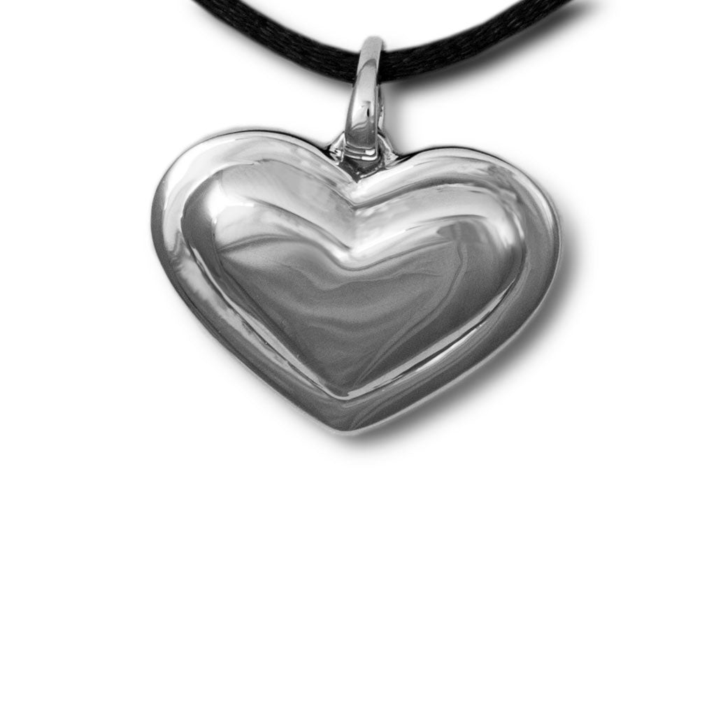 Sterling Silver Heart Cremation Pendant