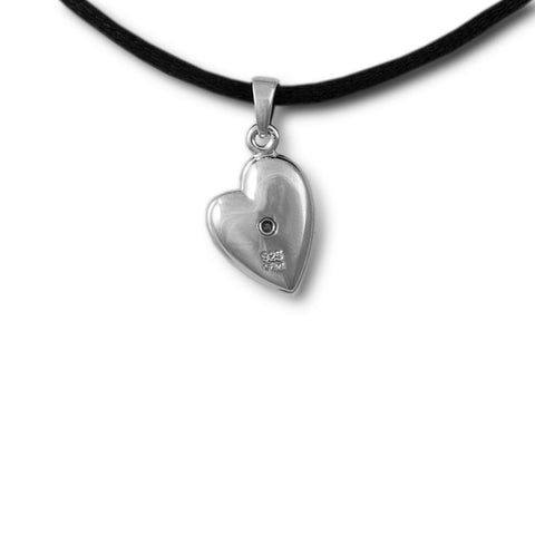 Pierced Heart Cremation Necklace Pendant - Sterling Silver