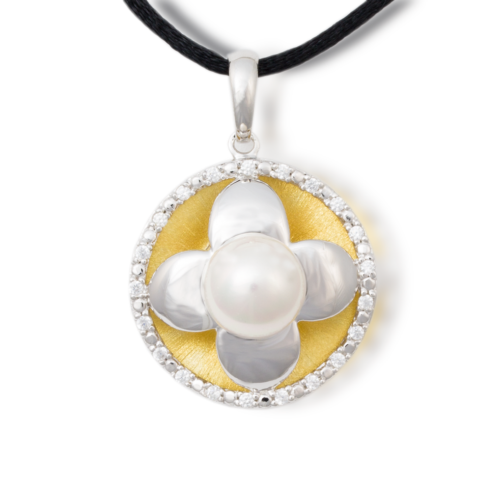 Flower Cremation Necklace with Pearl