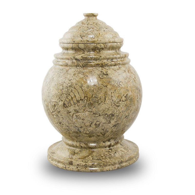 Fossilized Stone Cremation Urn for Ashes