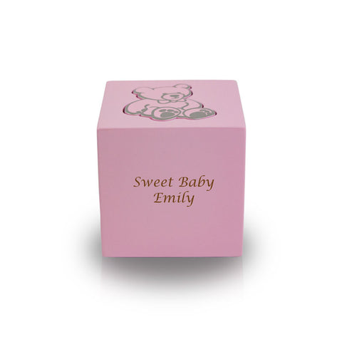Baby Pink Teddy Bear Infant Cremation Urn
