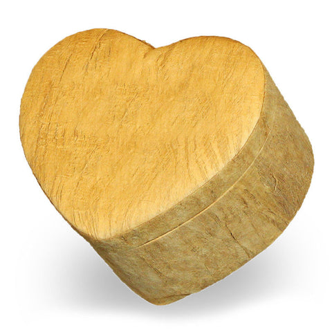 Heart Shaped Biodegradable Earth Urn - Large