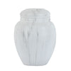 White Cultured Marble Classic Cremation Urn - Large