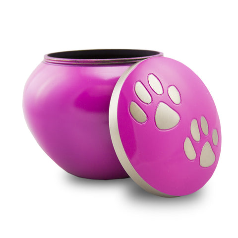 Gentle Paws Cremation Urn - Large Fuchsia