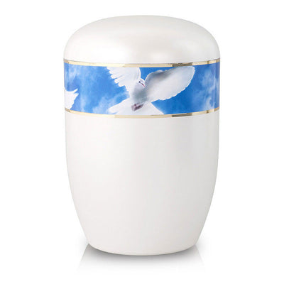 Biodegradable Cremation Urn - Doves