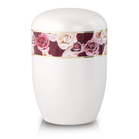Rose Garden Biodegradable Cremation Urn