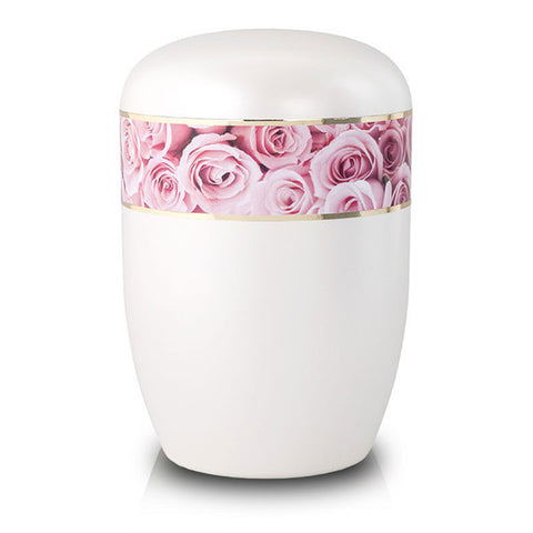 Pink Roses Biodegradable Cremation Urn