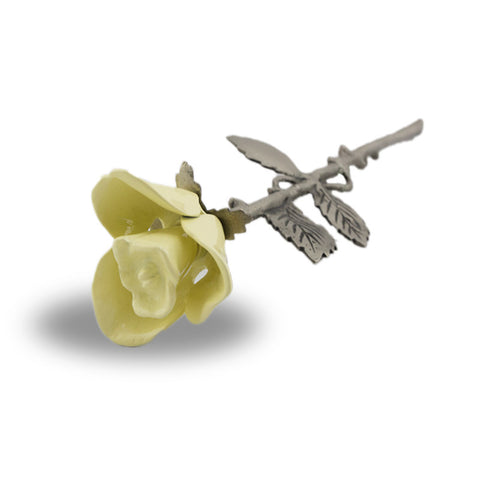 Yellow Rose Stem Cremation Keepsake