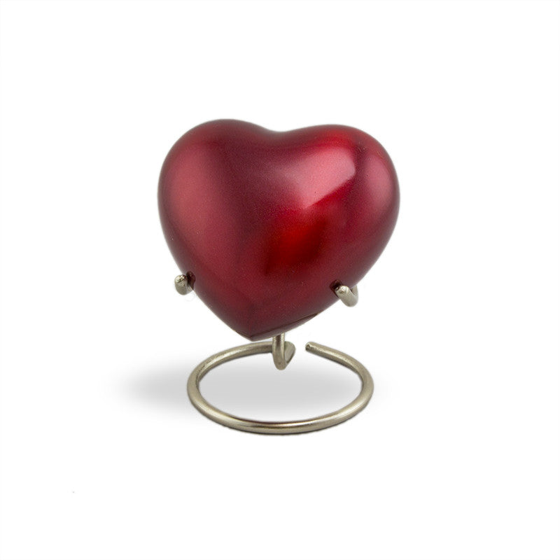 Trinity Crimson Cremation Keepsake Heart