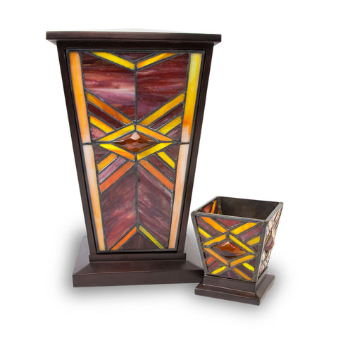 Ruby Mission Style Stained Cremation Urn