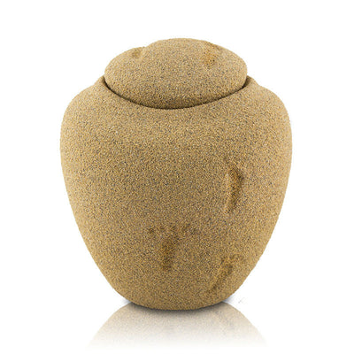 Sandy Beach Biodegradable Cremation Urn - Small