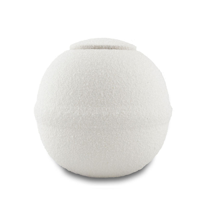 Round Quartz Biodegradable Cremation Urn - Small