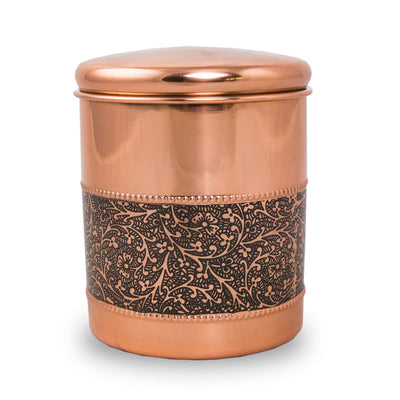 Copper Pet Cremation Urn - Mughal Motif