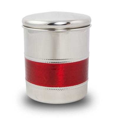Metal Pet Cremation Urn - Crimson Band