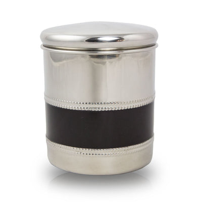 Metal Pet Cremation Urn - Black Band