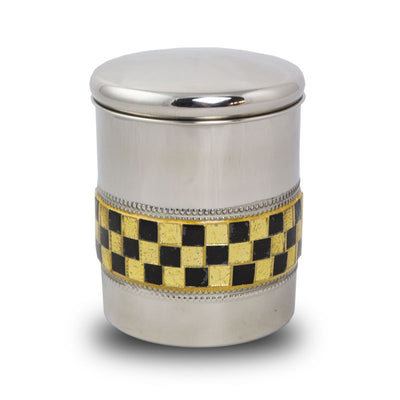 Metal Pet Cremation Urn - Golden Luxury