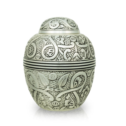 Silver Embossed Pet Urns - Small
