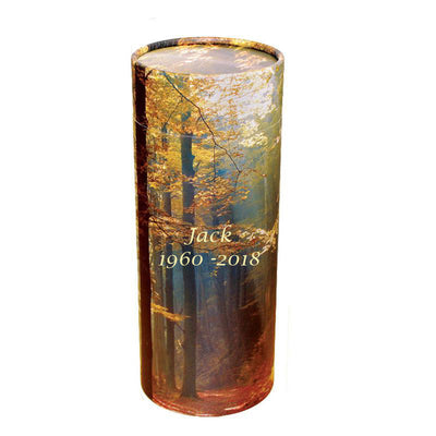 Autumn Woods Cremation Scattering Tube - Large