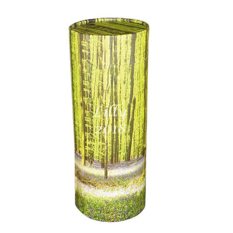 Large Bluebell Forest Cremation Scattering Tube