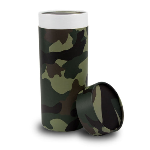 Camouflage Cremation Scattering Tube - Large