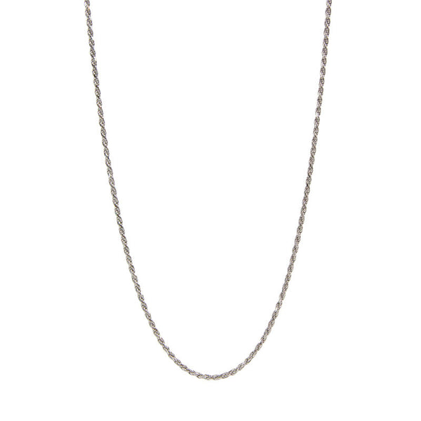 Sterling Silver Rope Chain - 20 Inches