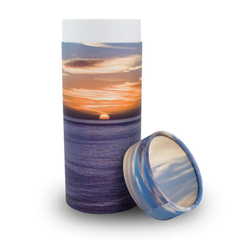 Ocean Sunset Cremation Scattering Tube - Large