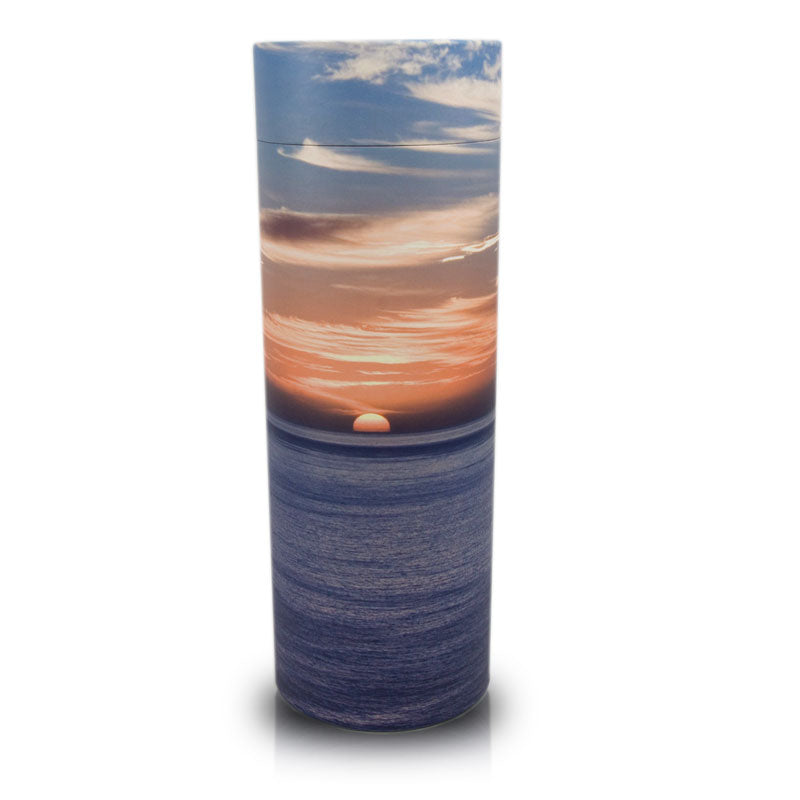 Ocean Sunset Cremation Scattering Tube-  Extra Large