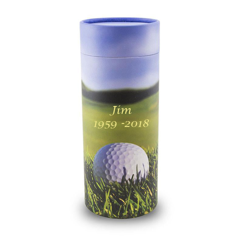 Large Golf Cremation Scattering Tube