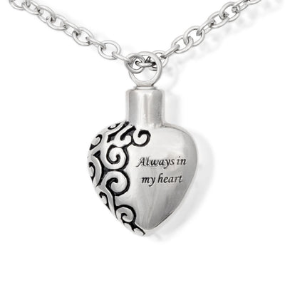 Cremation Urn Necklace - Always In My Heart