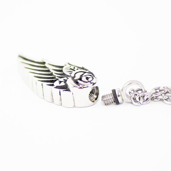 Angel Wing Cremation Pendant - Stainless Steel   OneWorld ...