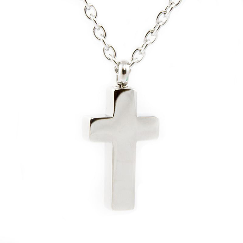 Stainless Steel Cross Cremation Pendant