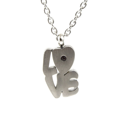 Cremation Pendant - LOVE