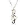 Silver Cremation Necklace - Treble Clef