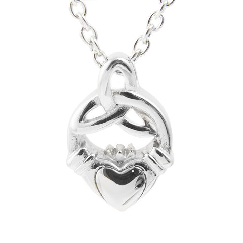 Silver Claddagh Cremation Necklace