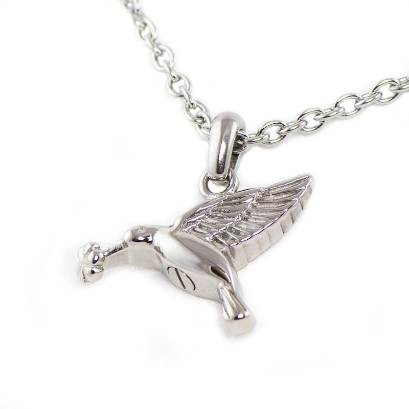Hummingbird Cremation Necklace - Stainless Steel