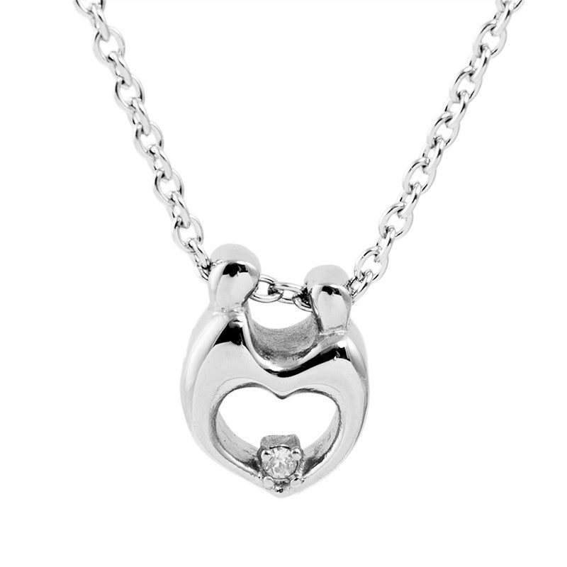 Cremation Necklace - Crystal Clear Heart
