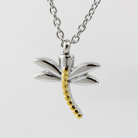 Dragonfly Cremation Necklace